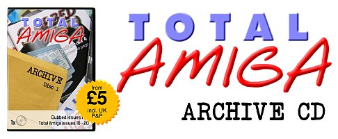 The Total Amiga Archive CD box and logo.